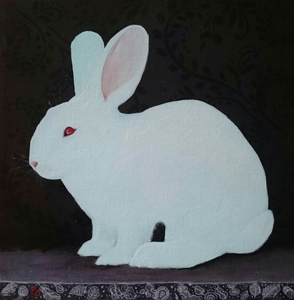 (CreativeWork) Classic Bunny 2 by Paola Ditel. mixed-media. Shop online at Bluethumb.