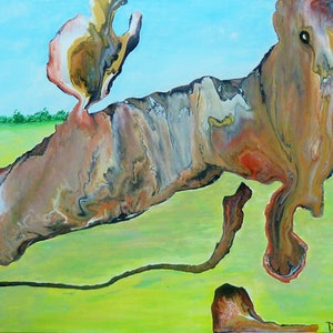(CreativeWork) Deconstructed Horse by Di Parish. arcylic-painting. Shop online at Bluethumb.