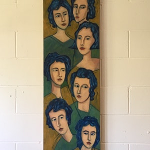 (CreativeWork) Conformity  by chris (christopherlo) pritchard. oil-painting. Shop online at Bluethumb.