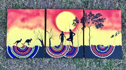 (CreativeWork) Muyulung by Scott McMillan. arcylic-painting. Shop online at Bluethumb.