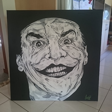 (CreativeWork) Joker  by Colby Pont. Acrylic Paint. Shop online at Bluethumb.