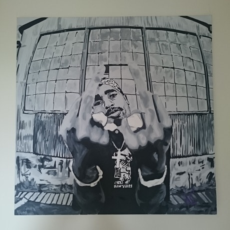 (CreativeWork) Pac  by Colby Pont. Acrylic Paint. Shop online at Bluethumb.