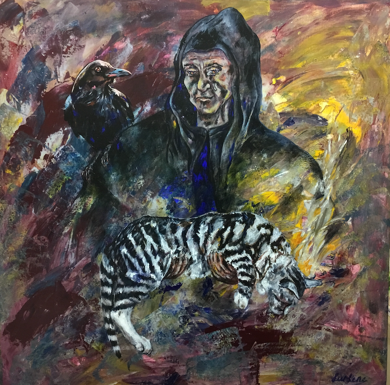 (CreativeWork) Compassionate Death, Be Kind. by Lurlene Murray. arcylic-painting. Shop online at Bluethumb.
