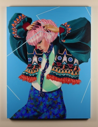 (CreativeWork) Lili by Lucy Lucy. Acrylic Paint. Shop online at Bluethumb.