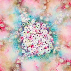 (CreativeWork) Burst of Summer Scent by Di Cox. arcylic-painting. Shop online at Bluethumb.
