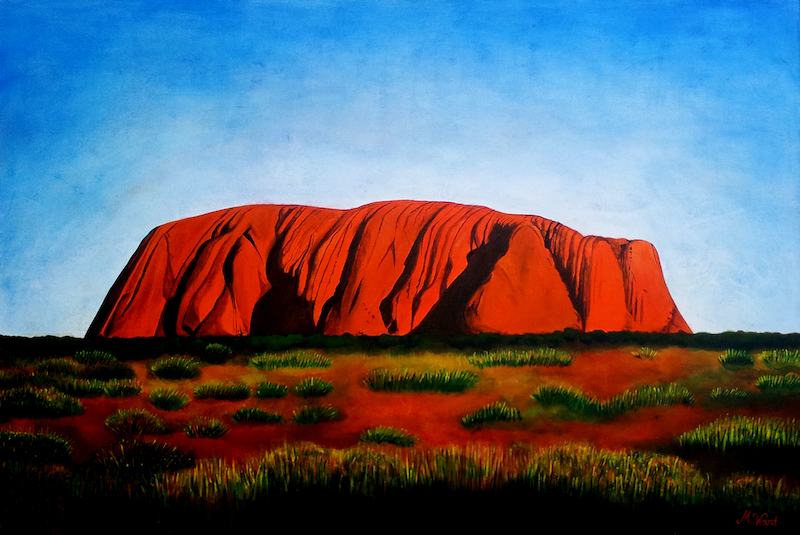(CreativeWork) Illuru Dreaming by Michelle Ward. arcylic-painting. Shop online at Bluethumb.