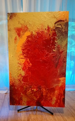 (CreativeWork) Ares by William Holt. Acrylic Paint. Shop online at Bluethumb.