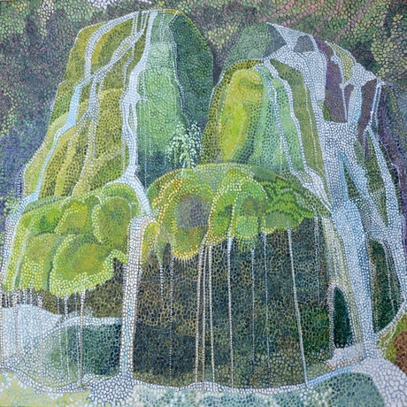 (CreativeWork) Waterfall by Christopher O'Hare. Acrylic Paint. Shop online at Bluethumb.