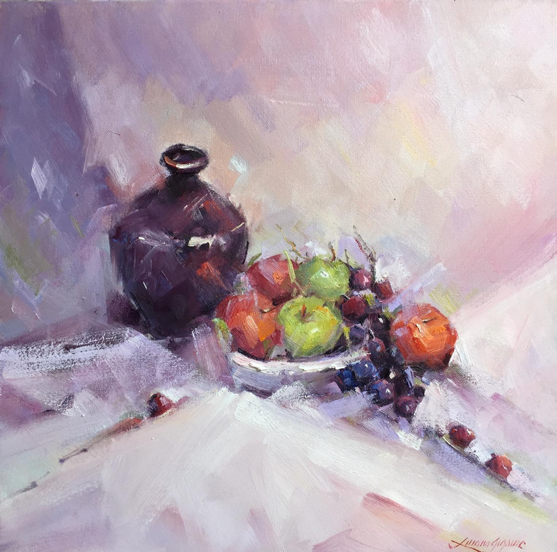 (CreativeWork) Still life #1 by Liliana Gigovic. oil-painting. Shop online at Bluethumb.