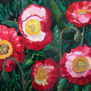 (CreativeWork) Red Poppies Ed. 1 of 50 by Gillian Radford. print. Shop online at Bluethumb.