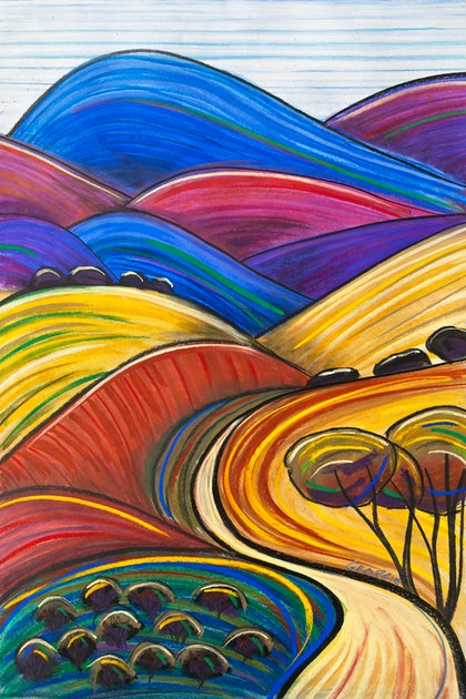 (CreativeWork) Track Through The Flinders Ranges by Georgie Sharp. other-media. Shop online at Bluethumb.