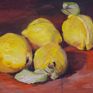 (CreativeWork) Four Quinces by Roland Weight. #<Filter:0x00007fbcb0ccfc80>. Shop online at Bluethumb.
