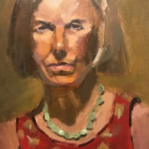 (CreativeWork) Linda by Ray Wilson. oil-painting. Shop online at Bluethumb.