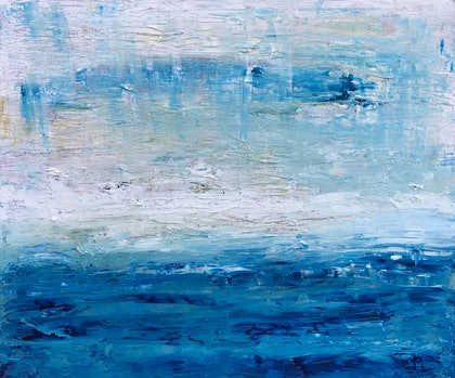 (CreativeWork) Horizon Mist by Susanne Tester. arcylic-painting. Shop online at Bluethumb.
