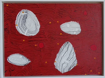 (CreativeWork) Stones  by Liliana Stafford. drawing. Shop online at Bluethumb.