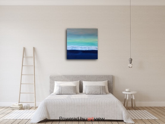 (CreativeWork) Calm Blue by Faye Kowalski. #<Filter:0x00007fbc88a915b8>. Shop online at Bluethumb.