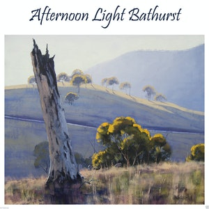 (CreativeWork) Afternoon Light Bathurst by Graham Gercken. oil-painting. Shop online at Bluethumb.