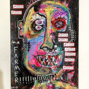 (CreativeWork) I'm a farmer  by Dominic J White. mixed-media. Shop online at Bluethumb.
