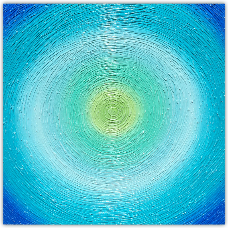 (CreativeWork) Ocean Swirl (vs 2) abstract coastal  by Miranda Lloyd. mixed-media. Shop online at Bluethumb.