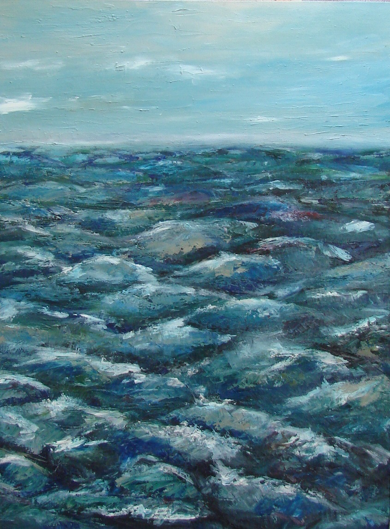 (CreativeWork) Northerly by Adam Fisher. Acrylic Paint. Shop online at Bluethumb.