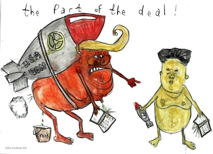 The Fart of the Deal - up in smoke - gone with the wind - Trump and Jong-un
