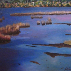 (CreativeWork) Tamar River No. 1 by Adam Fisher. arcylic-painting. Shop online at Bluethumb.