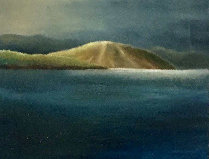 (CreativeWork) Cold Day, Droughty Point by Adam Fisher. Acrylic Paint. Shop online at Bluethumb.