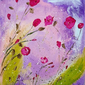 (CreativeWork) Spring Flower Blossoms x 2  by Deborah Christensen. mixed-media. Shop online at Bluethumb.
