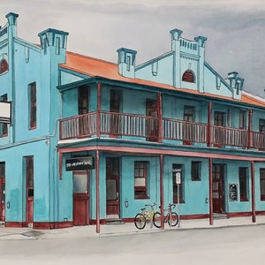 (CreativeWork) The Wheatsheaf Hotel South Australia Ed. 7 of 100 by Chelle Destefano. print. Shop online at Bluethumb.