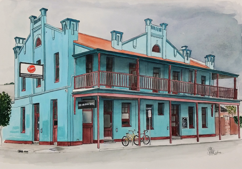(CreativeWork) The Wheatsheaf Hotel South Australia Ed. 7 of 100 by Chelle Destefano. #<Filter:0x000055d84757a740>. Shop online at Bluethumb.