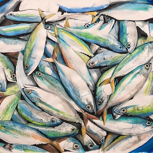 (CreativeWork) Fish without chips by Silvia Rubboli Golf. other-media. Shop online at Bluethumb.