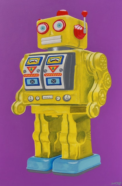 The Yellow Tin Robot