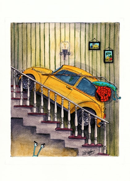 Taxi Vdub up the Stairs Ed. 5 of 50