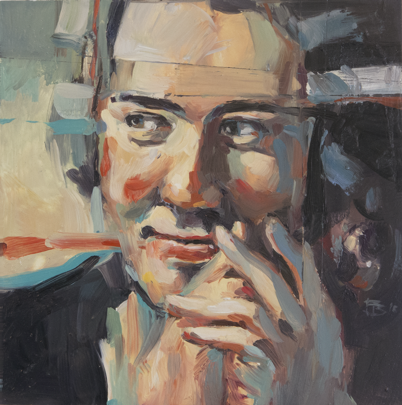 (CreativeWork) Portrait of  Young Man by Tony Belobrajdic. Oil Paint. Shop online at Bluethumb.