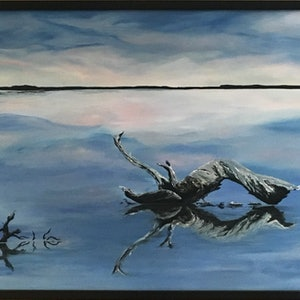(CreativeWork) Mirror Mirror On The Lake by Jenny Care. arcylic-painting. Shop online at Bluethumb.