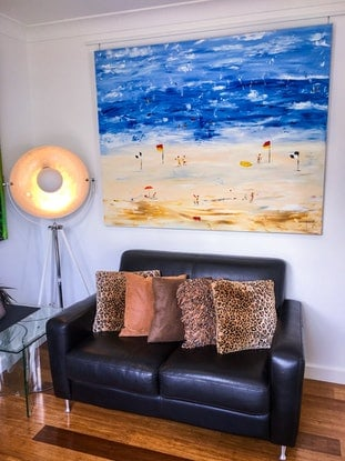 (CreativeWork) Bondi III by Leith Kennedy. Acrylic Paint. Shop online at Bluethumb.