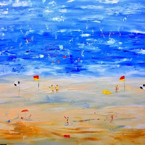 (CreativeWork) Bondi III by Leith Kennedy. arcylic-painting. Shop online at Bluethumb.