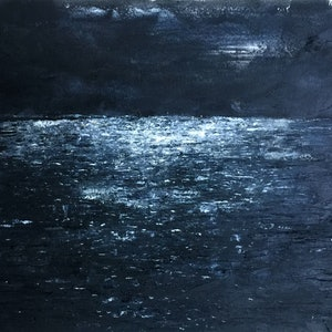 (CreativeWork) Silent and Still  by Tiffany Blaise. oil-painting. Shop online at Bluethumb.
