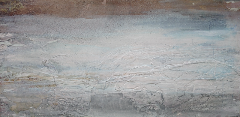 (CreativeWork) White Oasis by William Holt. arcylic-painting. Shop online at Bluethumb.