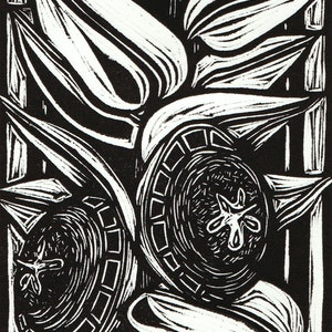 (CreativeWork) Eucalyptus Macrocarpa (Linocut limited edition of 5) Ed. 5 of 5 by Nicola Cowie. print. Shop online at Bluethumb.