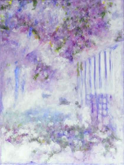 (CreativeWork) Lavender Mist by Anne Huth. arcylic-painting. Shop online at Bluethumb.