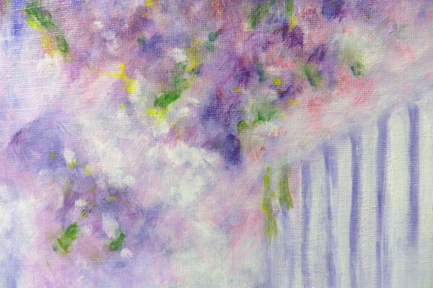 (CreativeWork) Lavender Mist by Anne Huth. Acrylic Paint. Shop online at Bluethumb.