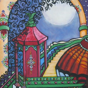 (CreativeWork) Beyond the Arch by Maureen McManamny. arcylic-painting. Shop online at Bluethumb.
