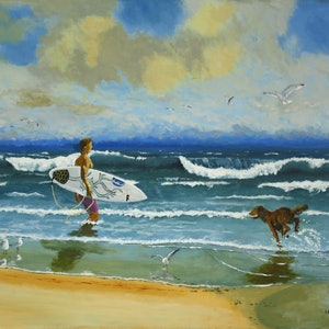 (CreativeWork) Can I Come Too? by Ian Keenan. acrylic-painting. Shop online at Bluethumb.