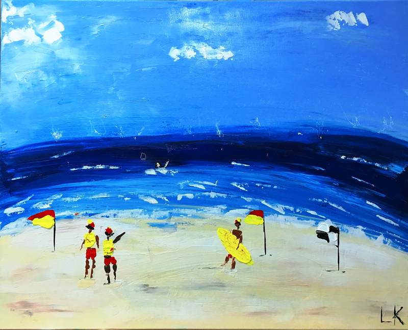 (CreativeWork) Bondi II by Leith Kennedy. arcylic-painting. Shop online at Bluethumb.