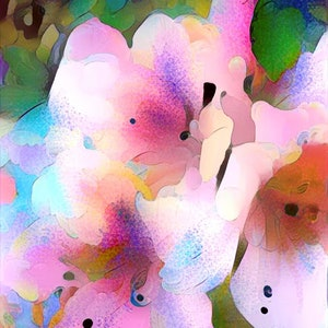 (CreativeWork) Floral Dreaming - Princess Lillies Ed. 1 of 10 by Wendy Goodwin. print. Shop online at Bluethumb.