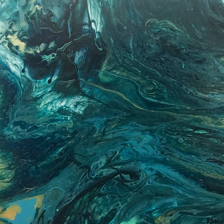 (CreativeWork) Riptide by Katie Dobson. Acrylic Paint. Shop online at Bluethumb.