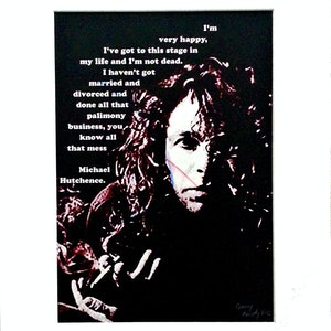 (CreativeWork) Michael Hutchence - INXS by Garry Arnephy. other-media. Shop online at Bluethumb.