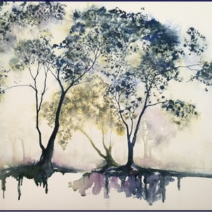 (CreativeWork) Morning Light by Lucinda Leveille. watercolour. Shop online at Bluethumb.