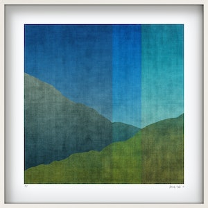 (CreativeWork) 'The Faultline' in white box frame  Ed. 8 of 75 by George Hall. print. Shop online at Bluethumb.
